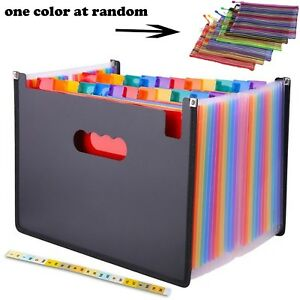 24 Pocket Expanding File Folder With Cloth Edge Wrap Letter Size Organ