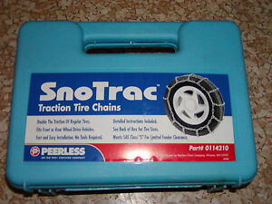 Tire Snow Chains Peerless 0114210 245 60 16 255 50 16 255 50 16 225 50 18