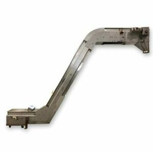 Used 9 W X 15 l Stainless Steel Sanitary Cleated Incline Belt Conveyor Elevator