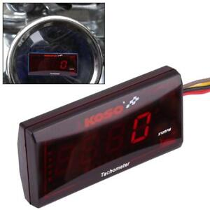 Motorcycle Red Backlight Led Digital Tachometer 20000rpm For Honda Yamaha Suzuki