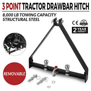 3 Point Bx Trailer Hitch Compact Tractor Category 1 Fully Welded Heavy Duty