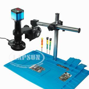 Phone Pcb Repair 14mp Hdmi Usb 1080p Industrial Microscope Digital Camera W Lens