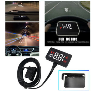 A100 Digital Speedometer Auto Hud Head Up Display Windshield Car Voltage Alarm