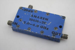 Anaren 10616 20 Directional Coupler 2 4ghz 20db Low Insertion Loss Tested