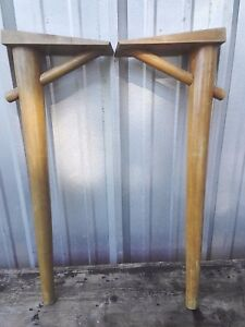Set Of 4 Mid Century Modern Tapered Table Legs 28 1 2 Long Cantilever Angle
