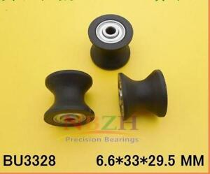 10pc Bu3328 Plastic Black Embedded U Groove Pulley Bearing 6 6 33 27 5 29 5mm