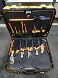 Klein Tools 13 Pc Insulated Utility Tool Kit 33525 With Hard Case Free Shipping