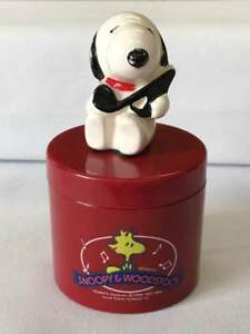 Antique Snoopy Music Box Vintage Japan Retro Popular Rare Beautiful Ems F S
