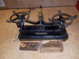 Vintage Jeweler S Balance Scale Whitail Tatum Co With Weights Very Rare