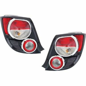 New Tail Lights Lamps Set Of 2 Driver Passenger Side Chevy Lh Rh Sonic Pair