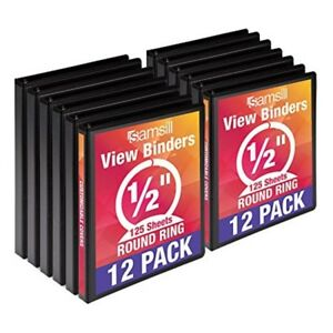 Economy 3 Ring View Binders 5 Inch Round Ring Customizable Clear View Cover
