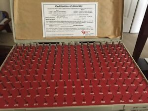 Vermont Pin Gage Set 198pcs Zz Plus Calibrated