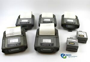 Lot Of 5 Zebra Ql420 Plus Wireless Mobile Thermal Barcode Shipping Label Printer
