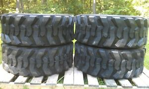 4 New Loadmax 12 16 5 Skid Steer Tires 12 Ply For Cat New Holland