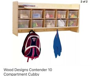 Contender Wall Locker Coat Rack School Kids Wood Locker