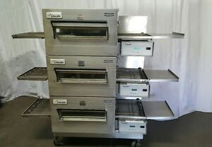 Lincoln Impinger 1132 Electric Commercial Triple Conveyor Pizza Oven Three Ovens