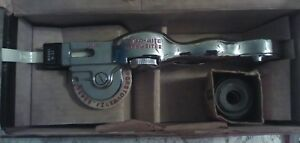 Vintage Dymo Hand Embossing Tool Label Maker With Original Directions