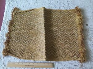 Antique African Congo Tribal Kuba Cloth Fabric Handwoven Ethnic Design 17 X23