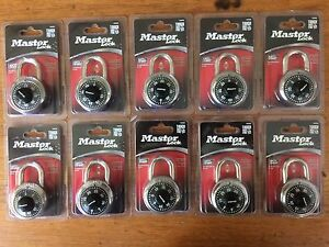 Ten 10 Brand New Master Lock 1500d Black Combination Padlock 3 4 Clearance