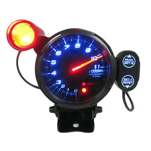 3 5 Tachometer Gauge Kit Led Auto Meter With Shift Light stepping Motor Rpm 12v