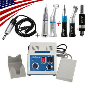 Dental Micromotor Straight Nose Cone Contra Angle Low Speed Handpiece 4h B