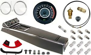 67 Camaro Tach Console W gauges Conversion Kit W pg 120 Mph 5 7k Tach