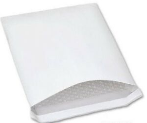 100 Pcs White Bubble Envelope Shipping Padded Mailing Bag Lightweight Mailer New