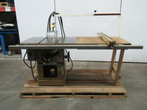 Powermatic Model 66 5hp 10 Table Saw Fence Table Extension 230 460v 3 Ph