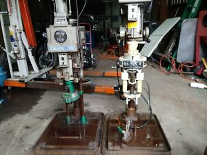 Pair Of Clausing Drill Press With Twin Spindle Procunier Lead Screw Tapping Att