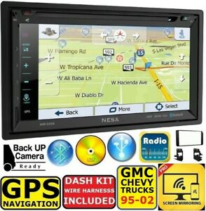 95 02 Gmc Chevy Truck Gps Navigation Cd dvd Bt System Bluetooth Car Stereo Radio