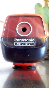 Vintage Panasonic Kp 88a Orange Electric Pencil Sharpener Made In Japan Works