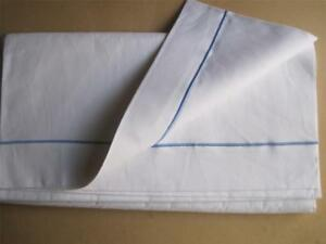 Excellent Vintage French Linen Metis Sheet Unused Lovely Bedding Fabric