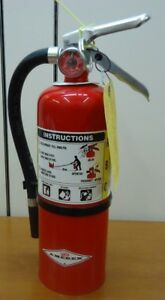 New Amerex 5lb Abc Fire Extinguisher B402t And Certification Tag