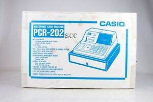 New Sealed Vintage Casio Pc 202 Cash Register W Drawer Awesome Nos