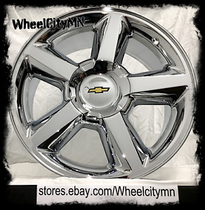 22 Chrome Chevy Ltz Tahoe Avalanche Suburban Silverado Oe Replica Wheels 6x5 5
