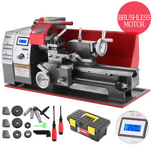 Brushless Motor Mini Metal Lathe Woodworking Tool Digital High Precision Machine