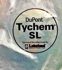 Dupont Tychem Suits Sl Overall Chemical Bibs Gray Xl Case Tyvek Lot 6 Hazmat Nos