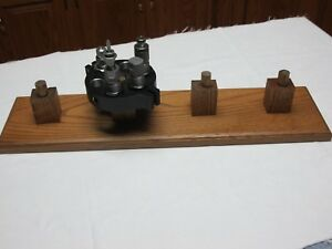 Oak stand for lyman T-mag turrets