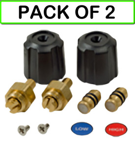 2 pack Fieldpiece Rsmank6 Replacement Valve And Knob Kit For Sman2 3 Manifolds