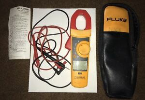 Fluke 335 True Rms Clamp Meter W Leads And Case