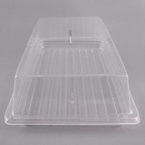 Rectangular Top Cover Clear Countertop Display Acrylic Bakery Donut Pastry Case