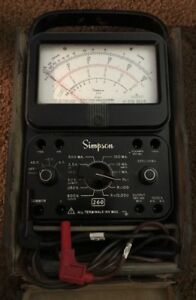 Vintage Simpson 260 Series 7 Overload Protection Multimeter W Case And Leads