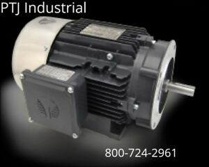 1 Hp Electric Motor 56c Frame 3 Phase 3600 Rpm Tefc Inverter Rated 3 Yr Warranty