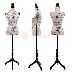 Female Mannequin Torso Designer Pattern Dress Form Display W Tripod Stand New