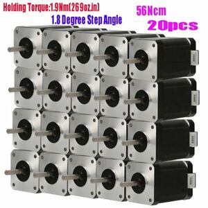20x Nema 17 High Torque Cnc Kits Stepper Motor Diy 3d Printers 1 9nm 269oz in Gk