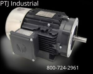 1 5 Hp Electric Motor 56c 3 Phase 1800 Rpm Tefc Inverter Rated 3yr Warranty