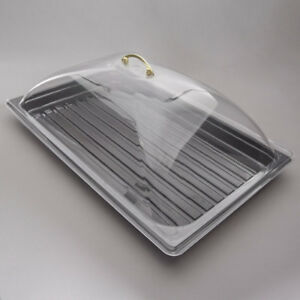 Lift Top Cover Tray Countertop Display Acrylic Bakery Donut Pastry Sample Case