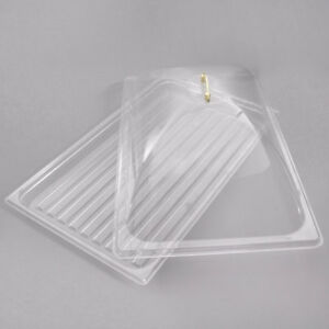 2 Pack Lift Top Cover Tray Countertop Display Bakery Donut Pastry Sample Case