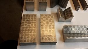 Assortment Of Toolmaker Made Non magnetic Grinding Parallels And V blocks
