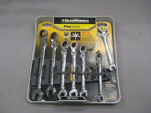 7 Pc Gearwrench Metric Flex Head Combination Wrench Set 44006